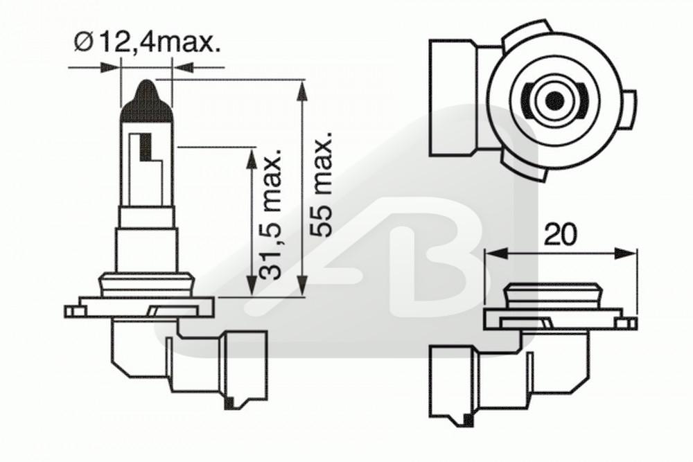 H10 12V 42W PURE LIGHT E